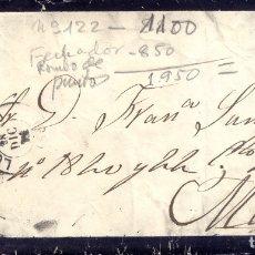 Sellos: AÑO 1872 EDIIL 122 AMADEO I SOBRE DE DUELO MATASELLOS ROMBO LOGROÑO. Lote 174965753