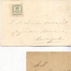 Selos: AÑO 1872 EDIIL 173 CORONA SOBRE Y FAJA PERIODICO DIRIGIDAS UNA A CASTROPOL Y OTRA A LORA. Lote 175145433