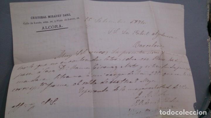 Sellos: ESPAÑA - 1874 - CARTA COMPLETA ALCORA - BARCELONA - EDIFIL 141/145 Y 157 - MUY ALTO VALOR - RARA. - Foto 3 - 175268455