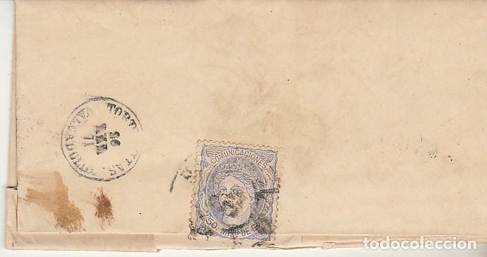 SELLO. 107. MADRID A TORDESILLAS. 1871. (Sellos - España - Amadeo I y Primera República (1.870 a 1.874) - Cartas)