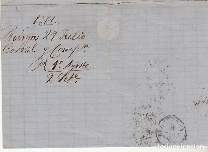 Sellos: Sello 107. BURGOS a BARCELONA.1871. - Foto 2 - 175326263
