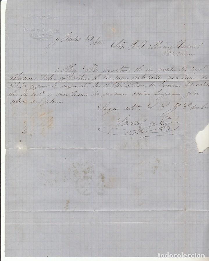Sellos: Sello 107. BURGOS a BARCELONA.1871. - Foto 3 - 175326263