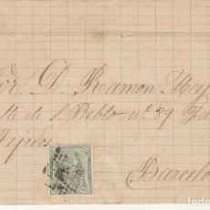 Sellos: ENVUELTA. SELLO. 133. LERIDA A BARCELONA. 1873.. Lote 175343527