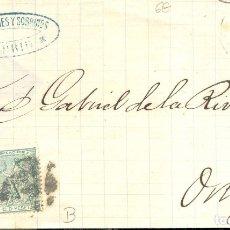 Sellos: AÑO 1873 EDIFIL 133-141 ALEGORIA ENVUELTA MATASELLOS REJILLA PUNTOS MADRID MEMBRETE R.CESPEDES. Lote 175519723