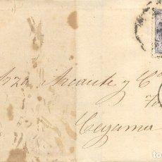 Sellos: AÑO 1870 EDIFIL 107 ALEGORIA ENVUELTA MATASELLOS RUEDA DE CARRETA 14 VALLADOLID A CEGAMA. Lote 175520873