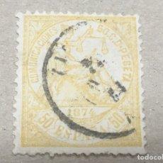 Selos: EDIFIL 149 50 CTS AMARILLO, ALEGORÍA JUSTICIA, USADO, FECHADOR, BONITO, CAT. 14€. Lote 175928135