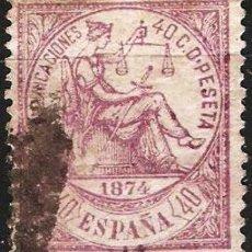 Sellos: EDIFIL Nº 148 USADO 40C. VIOLETA ( 14,50 €). Lote 176806678