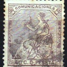 Sellos: EDIFIL Nº 136 USADO 40C. CASTAÑO VIOLETA ( 11,25 € ). Lote 176811824