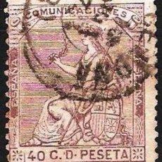 Sellos: EDIFIL Nº 136 USADO 40C. CASTAÑO VIOLETA ( 11,25 € ). Lote 176811870