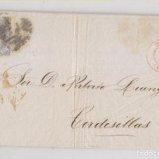 Sellos: ENVUELTA DE MADRID A TORDESILLAS, VALLADOLID. 1870. FECHADOR ROJO. MATRONA. Lote 176982804