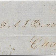 Sellos: ANDALUCIA. EDIFIL 112. ENVUELTA CIRCULADA DE SEVILLA A CADIZ. 1872. Lote 177706754