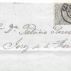 Sellos: ANDALUCIA. EDIFIL 153-154. ENVUELTA CIRCULADA DE SEVILLA A JEREZ 1875. Lote 177706978