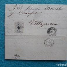 Sellos: CARTA 1872-73. AMADEO I. 12 CTS LILA GRIS ANULADO CON ROMBO DE PUNTOS. GALICIA.. Lote 178194203