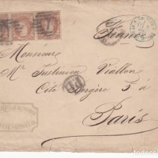 Sellos: CARTA CON 3 SELLOS NUM 113 DEL MINISTERIO DE ULTRAMAR GABINETE PARTICULAR DESTINO FRANCIA . Lote 178289000