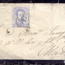 Selos: AÑO1872 EDIFIL 121 SOBRE MATASELLOS ROMBO LOGROÑO. Lote 178689036