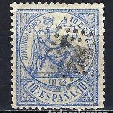 Sellos: ESPAÑA - 1874 - ALEGORÍA DE LA JUSTICIA - 10 C. - EDIFIL 145 - USADO. Lote 179320705