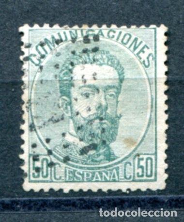 EDIFIL 126. AMADEO I. 50 CTS. MATASELLADO. (Sellos - España - Amadeo I y Primera República (1.870 a 1.874) - Usados)