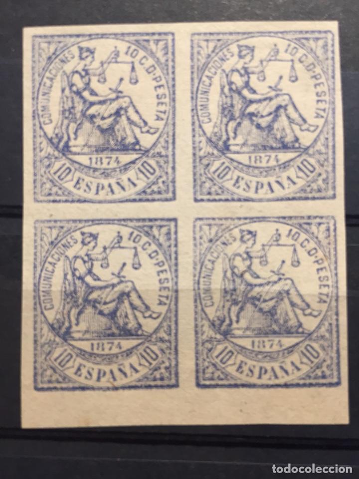 SELLOS REPÚBLICA EDIFIL 145 SIN DENTAR BLOQUE DE 4 MUY RARO CATALOGO 80€ (Sellos - España - Amadeo I y Primera República (1.870 a 1.874) - Nuevos)