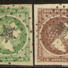 Sellos: ESPAÑA EDIFIL 160/161 (º) SERIE COMPLETA CORREO CARLISTA 2 VALORES SELLOS CIRCULADOS CARLOS VII 18. Lote 180258371