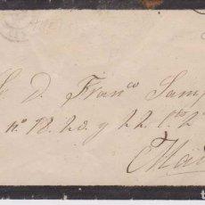 Selos: AÑO1872 EDIFIL 121 AMADEO I SOBRE DE DUELO MATASELLOS ROMBO MADRID 1 A F. SAMPELAYO. Lote 180872768