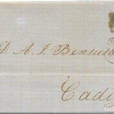 Sellos: SEVILLA. EDIFIL Nº 107. ENVUELTA CIRCULADA DE SEVILLA A CADIZ 1872. Lote 181070071