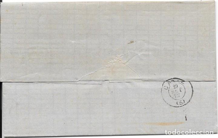 Sellos: SEVILLA. EDIFIL Nº 107. ENVUELTA CIRCULADA DE SEVILLA A CADIZ 1872 - Foto 2 - 181070071