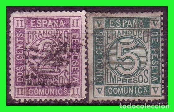 1872 AMADEO I, EDIFIL Nº 116 Y 117 (O) (Sellos - España - Amadeo I y Primera República (1.870 a 1.874) - Usados)