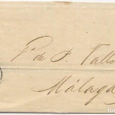Sellos: MATRONA. EDIFIL 107. ENVUELTA CIRCULADA DE BARCELONA A MALAGA. 1870. Lote 182712843