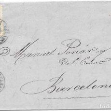 Sellos: MATRONA. EDIFIL 107. ENVUELTA CIRCULADA DE FIGUERAS A BARCELONA. 1871. Lote 182713818