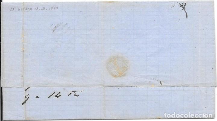 Sellos: MATRONA. EDIFIL 107. ENVUELTA CIRCULADA DE GERONA A BARCELONA. 1870 - Foto 2 - 182714433