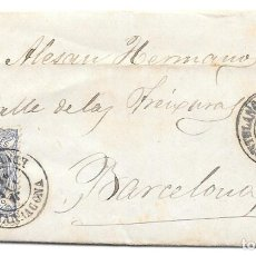 Sellos: MATRONA. EDIFIL 107. ENVUELTA CIRCULADA DE MONTBLANCH A BARCELONA. 1870. Lote 182714723