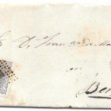 Sellos: MATRONA. EDIFIL 107. ENVUELTA CIRCULADA DE SOLSONA A BERGA. 1870. Lote 182715241