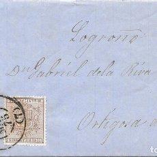 Sellos: SEVILLA. EDIFIL153-141. ENVUELTA CIRCULADA DE SEVILLA A ORTIGOSA DE CAMEROS. 1875. Lote 182718807