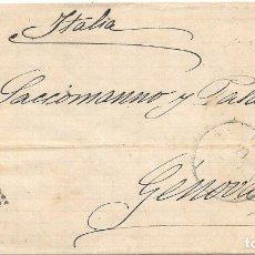 Selos: SEVILLA. EDIFIL194. ENVUELTA CIRCULADA DE SEVILLA A GENOVA - ITALIA. 1879. Lote 182719075