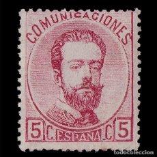 Sellos: SELLO.AMADEO I.1870 CORONA REAL. CIFRAS Y AMADEO I. 5C ROSA. NUEVO(*). EDIFIL.118. Lote 182969218