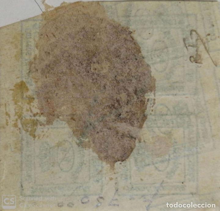 Sellos: ERROR. CORREOS DE ESPAÑA, 1/4 DE PESETA. - Foto 2 - 183647855