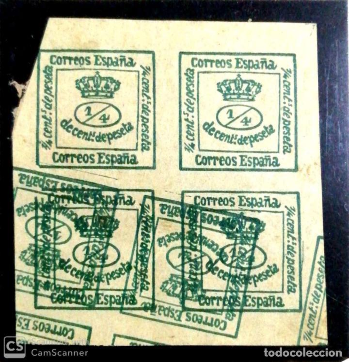 ERROR. CORREOS DE ESPAÑA, 1/4 DE PESETA. (Sellos - España - Amadeo I y Primera República (1.870 a 1.874) - Nuevos)