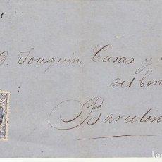 Sellos: SELLO 107. REUS A BARCELONA. 1870. Lote 183657753