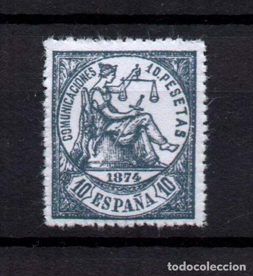 EDIFIL 152 NUEVO *, 10 PESETAS, 1874, ESPAÑA, SPAIN (Sellos - España - Amadeo I y Primera República (1.870 a 1.874) - Nuevos)