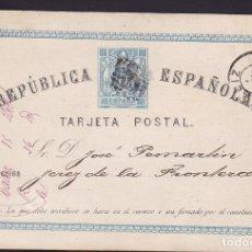 Sellos: F6-58- ENTERO POSTAL CADIZ- JEREZ 1873. Lote 186472442