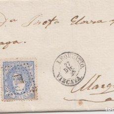 Sellos: ENVUELTA CON FECHADOR DE LEQUEITIO - VIZCAYA - 1870. Lote 188584770