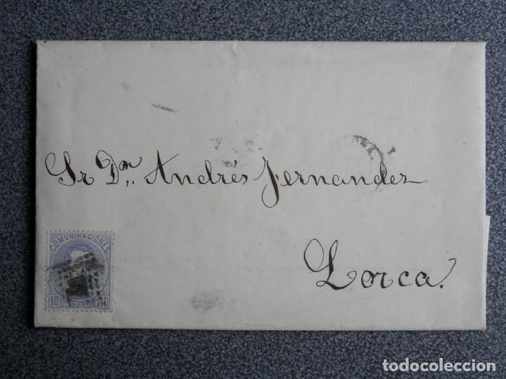 CARTA COMPLETA AÑO 1873 FECHADOR LORCA MURCIA EDIFIL 121 (Sellos - España - Amadeo I y Primera República (1.870 a 1.874) - Cartas)