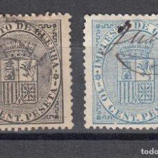 Sellos: 1874 EDIFIL 141/42 USADOS. ESCUDO DE ESPAÑA (1219). Lote 190570610