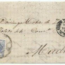 Sellos: 18/06/1870. GUADALAJARA A MADRID, EDIFIL 107 MAT. RUEDA CARRETA 27. Lote 190814357