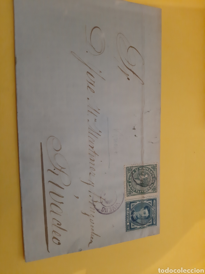 VIVERO DESTINO RIBADEO SELLOS ALFONSO XIII (Sellos - España - Amadeo I y Primera República (1.870 a 1.874) - Cartas)