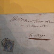 Sellos: MONTERREY PONTEVEDRA 1870 DIRIGIDO SANTIAGO DE COMPOSTELA MATA6 SOBRE SELLO EDIFIL 107 50 MIL ESC. Lote 190850902