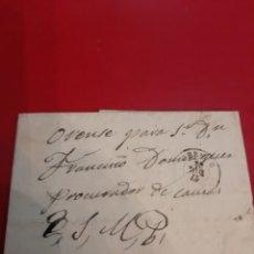 Sellos: ORENSE MATASELLO SR PROCURADOR FRSNCISCO DOMÍNGUEZ SELLO COMUNICACIONES 50 MIL EDIFIL 107 1870. Lote 190938265