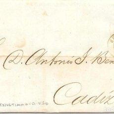 Timbres: ANDALUCIA. EDIFIL 107. ENVUELTA CIRCULADA DE SEVILLA A CADIZ. 1872. Lote 191347395