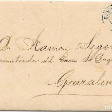 Sellos: ANDALUCIA. EDIFIL 107. ENVUELTA CIRCULADA DE SEVILLA A GRAZALEMA. 1872. Lote 191347916