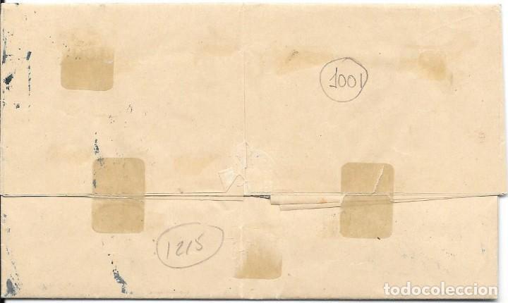 Sellos: ANDALUCIA. EDIFIL 107. ENVUELTA CIRCULADA DE SEVILLA A GRAZALEMA. 1872 - Foto 2 - 191347916